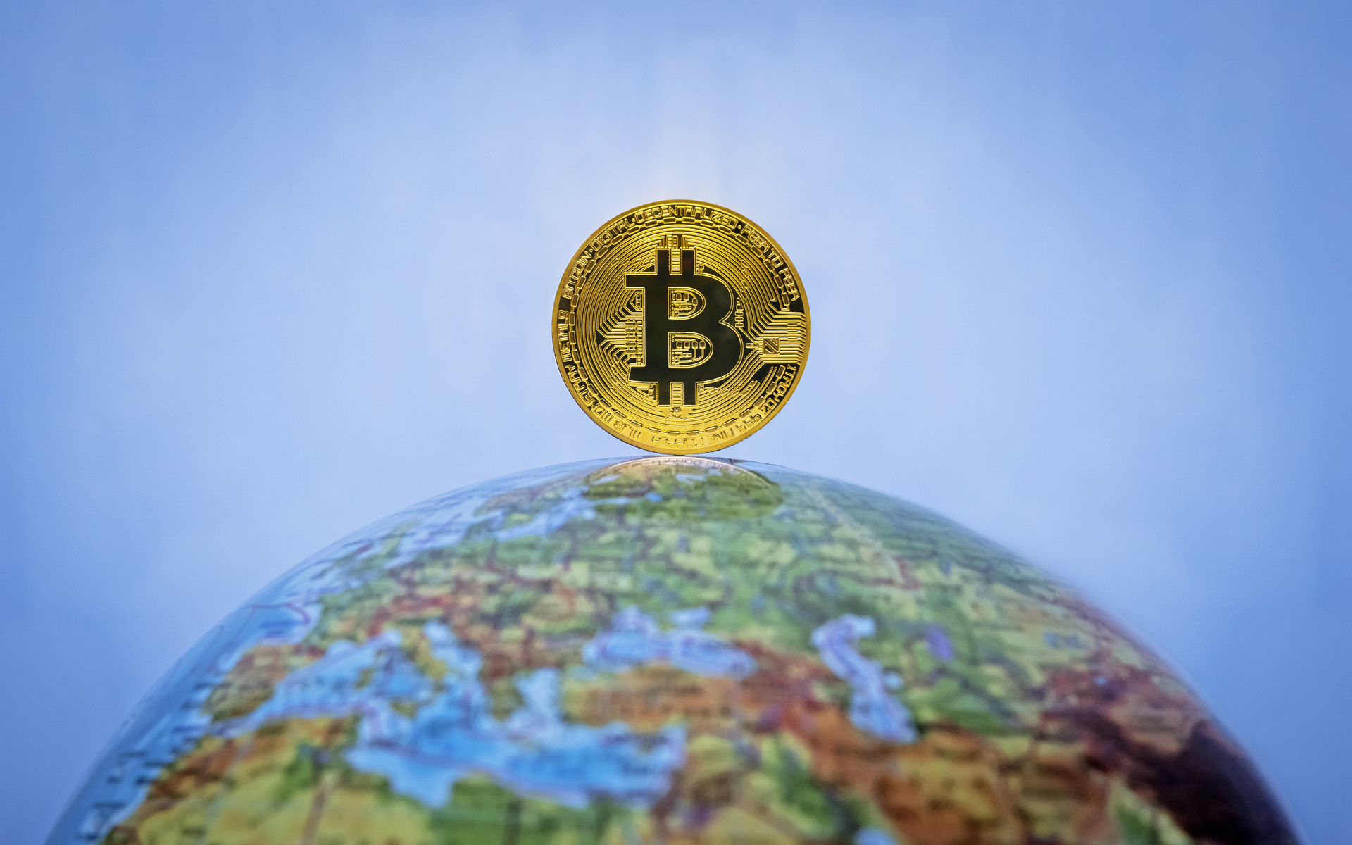 bitcoin globe world