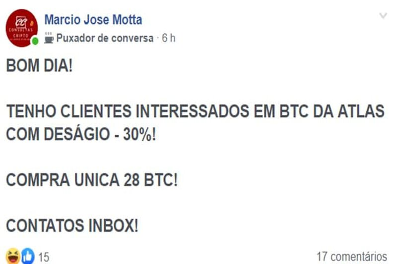 Facebook bitcoin sales ads
